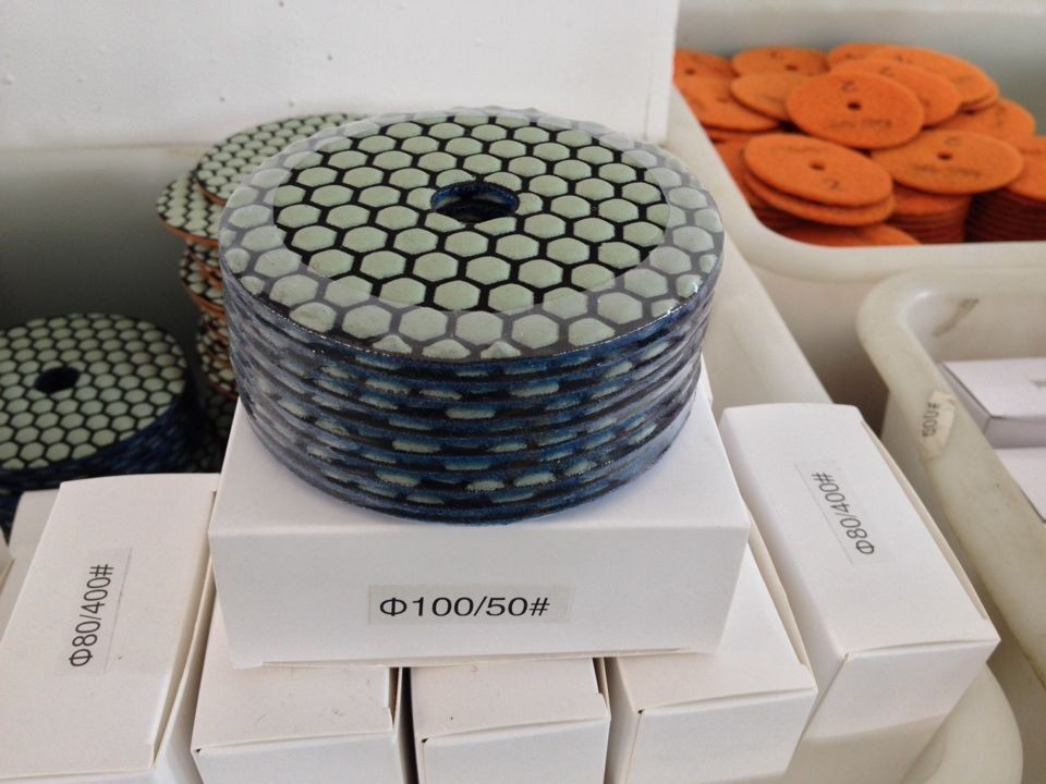 hot sale 4 inch 100mm dry diamond polishing pads for marble & granite