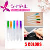 OEM Custom Printed Colorful Double side Glass nail file wholesale, Crystal nail file