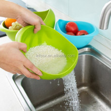 High quality plastic rice washing basket /drain basket