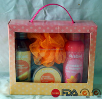 Fruit Fragrance turkish bath set and body shop gift set