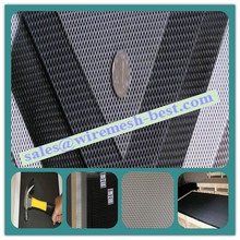 Black Plastic Coated Stainless Steel Safety Window Mesh Mosquito Net