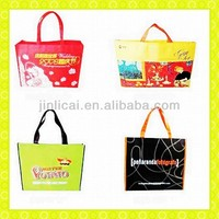 PP woven tote shopping bag with webbing handle