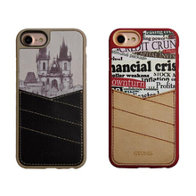 C&T Latest Card Slot Leather Custom Printed TPU Mobile Phone Case Cover For iPhone 6s Plus