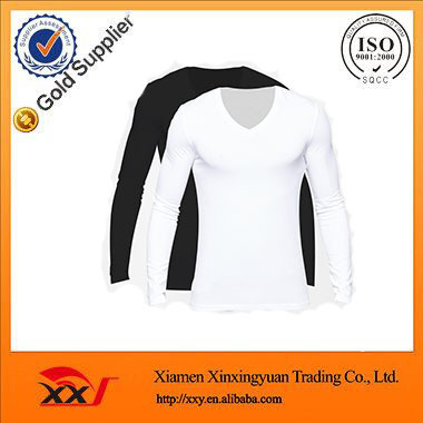 wholesale cheap Plain muscle bulk v-neck t shirt mens long sleeve t shirt v neck t shirts made in china online wholesale shop