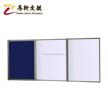Wall mounted whiteboard and bulletin board combo Folding magnetic dry erase board