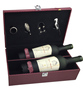 high quality two bottle artificial leather wine box