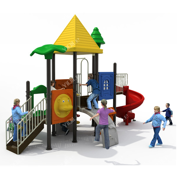 Used Metal Playground Equipment : Polyethylene and metal outdoor commercial playground