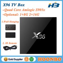 Wholesale Quad Core Amlogic S905X Android 6.0 2GB RAM 16GB 4K Smart X96 Android TV Box