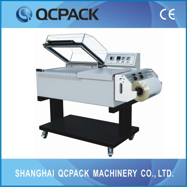 Film-wrapping machine BTM-400 2 in 1 semi automatic thermal shrink film packaging equipment for tea box