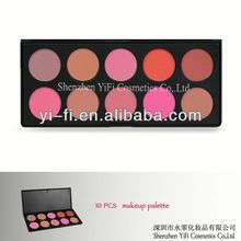 10 color makeup blush palette #2high quality 2012 new style nature blush