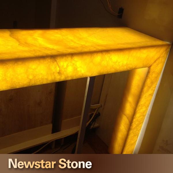 Chinese Polished Backlit Onyx Bar Countertop Onyx