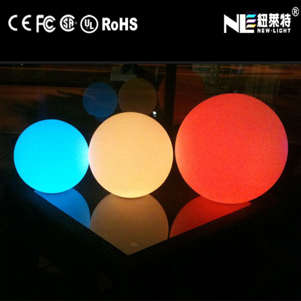 Waterproof out LED battery led light ball can be used swimming pool for decoration & illumination