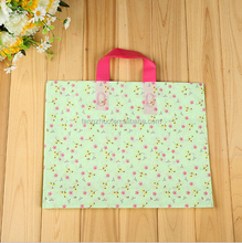 custom HDPE/LDPE punch handle printed gift clear plastic shopping bag