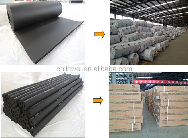 self adhesive rubber insulation foam sheet for HVAC system