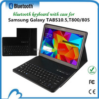 New Arrival Luxury PU Leather Case Wireless Rechargeable Bluetooth Keyboard for Samsung Galaxy TAB S 10.5 T800