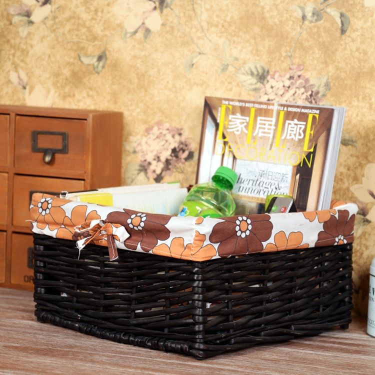 christmas wicker adult baskets camping gift basket with lining for sundries