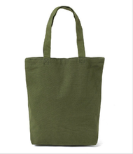 Army green Definite Leisure white Canvas Shopping bag tote bag