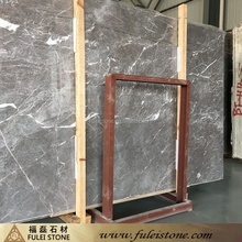 Exterior decoration polished artificial dark grey marble