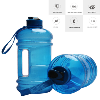 wholesale custom bpa free import tritan plastic 2.2l gym water bottle with leak proof lid
