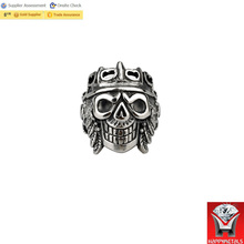 2017 New fashion cheap stainless steel masonic skull rings for men