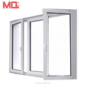 White Colour UPVC Profile upvc casement window with Multi Point Lock
