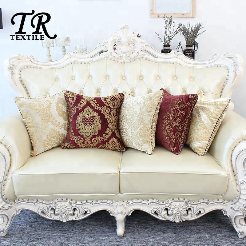 European Style Jacquard Weave Chenille Home Sofa Pillowcase Decorative Luxury Cushion Cover