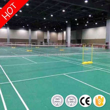 New design health bwf portable badminton court mat pvc flooring from china