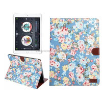 New arrival factory price flower pattern fabric filp case for ipad pro