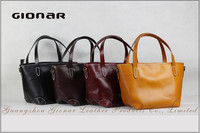 Vintage Genuine Leather Lady Tote Bag Durable Vegerable Tanned Leather Bags Wholesale Online