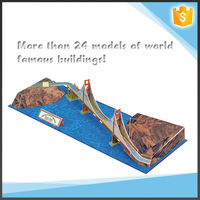 Wholesale gift items collection model 3D paper the world famous building toy