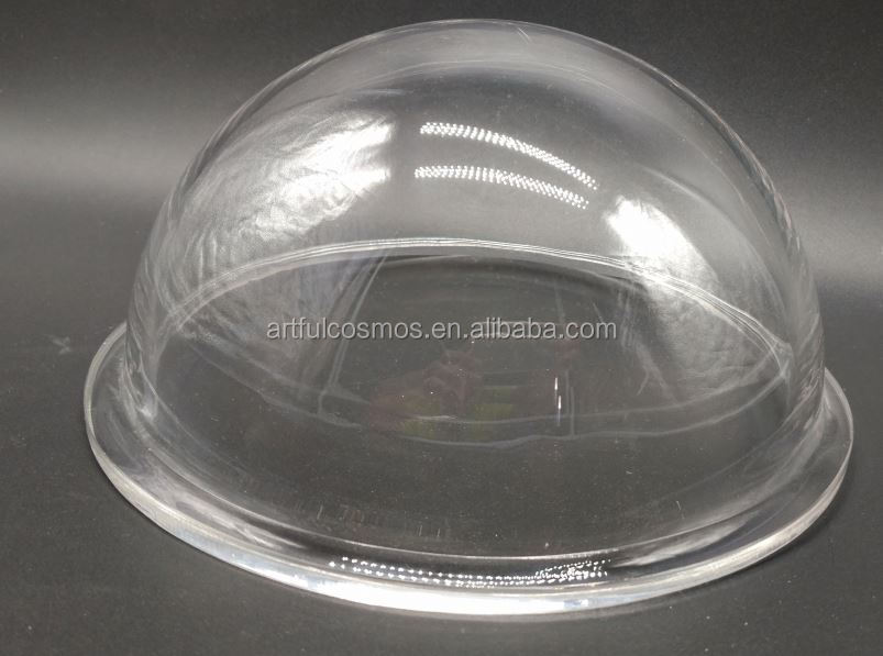 Decoration Clear Acrylic Ball Baluster Plastic Mini Helmet Display Clear Dome Case With Handle