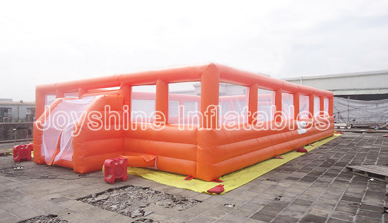 Cheap Commercial Inflatable Bubble Bumper Ball Football Pitch Paintball Bunkers Sports Arena Court Soap Soccer Field For Sale