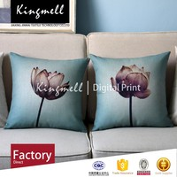 Custom Made High Quality 2015 lotus pattern vintage cushion covers floral designs