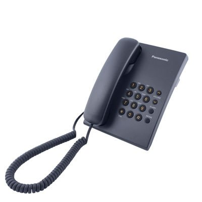 Corded telephone with adjustment of earpiece volume PANASONIC KX-TS500 FX Black White Red Blue Grey colors