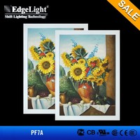 Edgelight PF7 led light photo frame acrylic hanging photo frame, display boards for picture