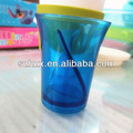 Novelty plastic wine cup with compartment plastic drinking cup