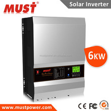 Factory wholesale Off grid MPPT PV solar power inverter 5000w 5KW 10KW 12kw hybrid solar inverter for generator pump battery
