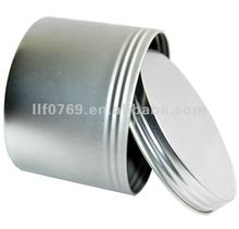 round screw top tin can plain tin box