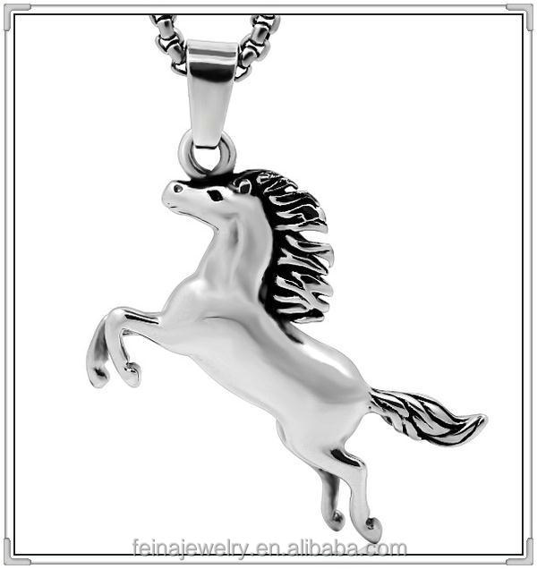 2016 Wholesale custom gold stainless steel horse pendant (GYWP-001)
