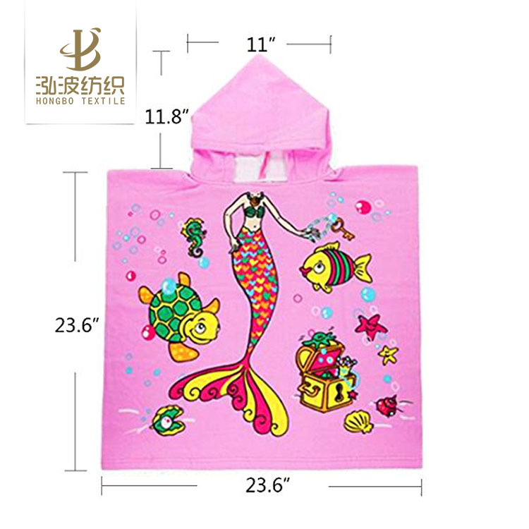 animal pattern adorable baby bath poncho hooded poncho towels for babies