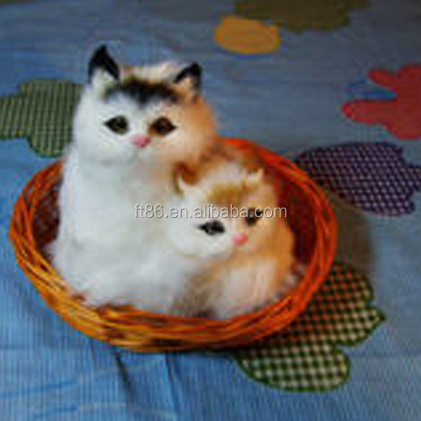 vivid realistic disguise cat christmas decoration for car