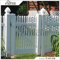 Widely Used Fentech Best Quality White Color Picket PVC Plastic Garden Fence