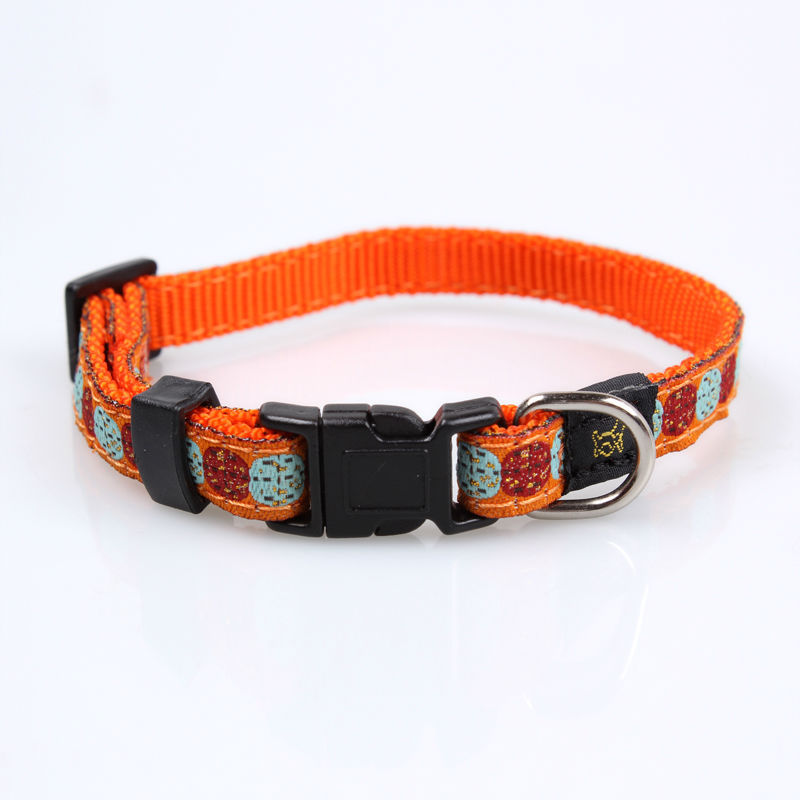 2018 low price wholesale alibaba nylon pet trainer collar making supplies with woven logo