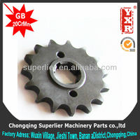 Professional produce motorcycle transmission gear,POP 100 14T sprocket,420 and 428 industrial chain sprocket