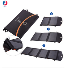 7W-14W USB Solar Charger Waterproof Power Bank Bag Portable Solar Charger