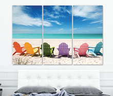 Low price large romantic sea beach ocean scenery picture canvas prints