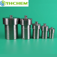 Small stainless steel teflon lined pressure vessels
