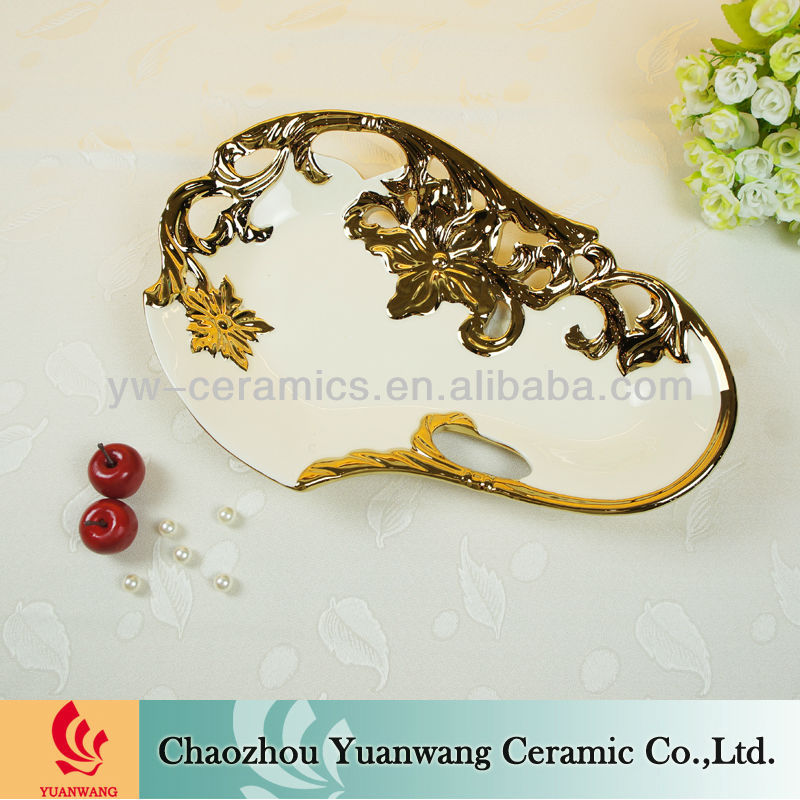 New Design Fashion Ceramic Fruit Tray