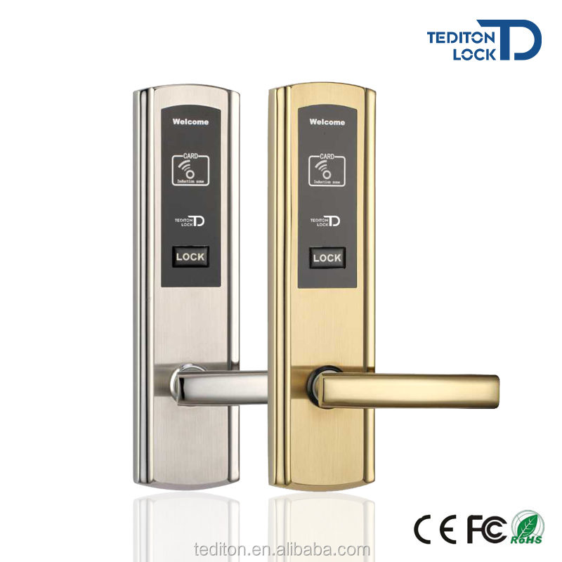 New Design Electronic Smart RFID Hotel Door Lock in 304 Stainless Steel