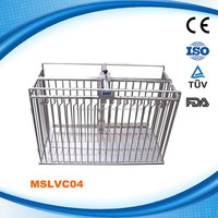 MSLVC04W Stainless steel resist corrosion dog cage for dog pets grooming